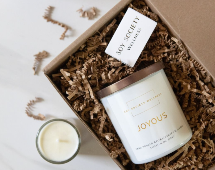 soy society wellness aromatherapy candle