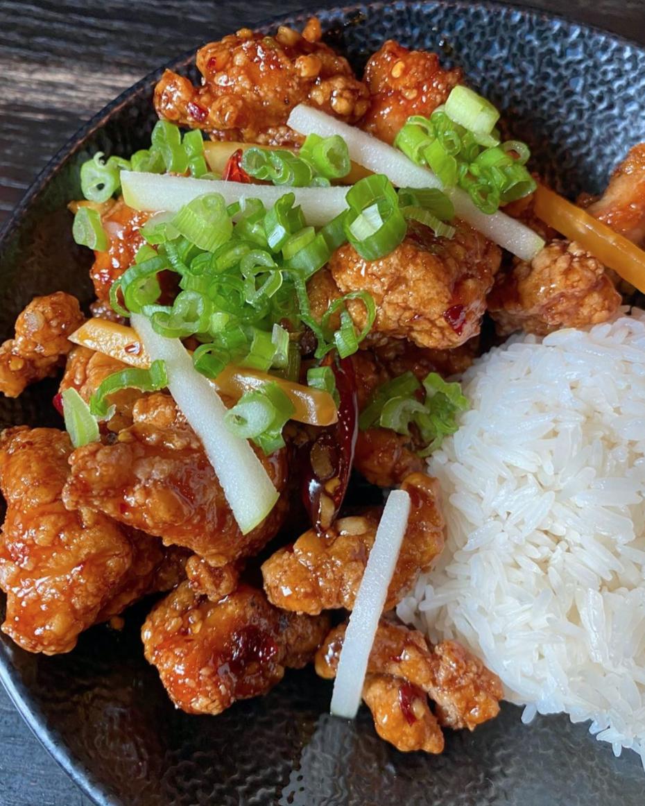 general tso's chicken from Old Thousand in Austin, TX
